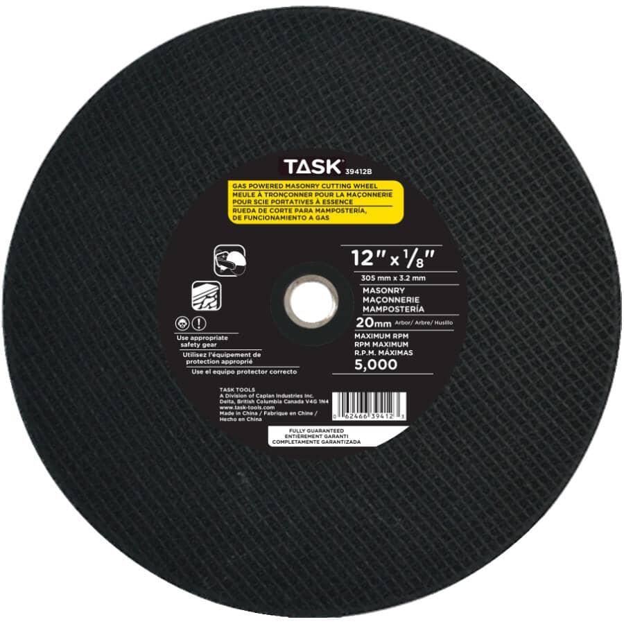"TASK:12"" x 1/8"" x 20mm Masonry Cut-Off Wheel"