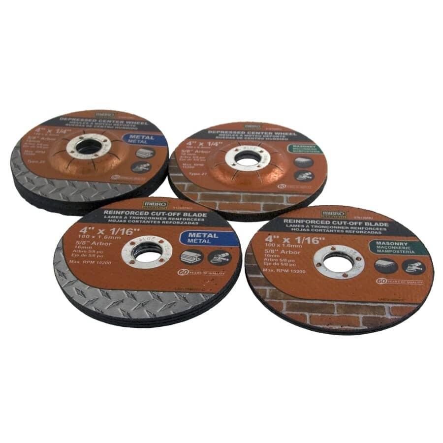 MIBRO:10 Piece Angle Grinding Wheel Kit, Assorted Sizes