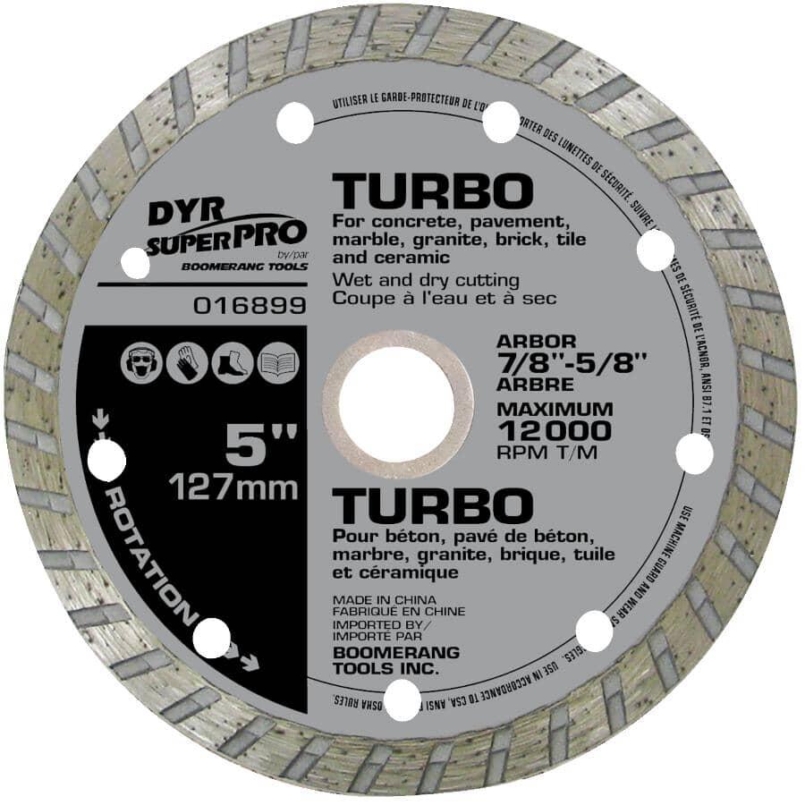 "DYR SUPER PRO:5"" Turbo Continuous Wet/Dry Diamond Blade"