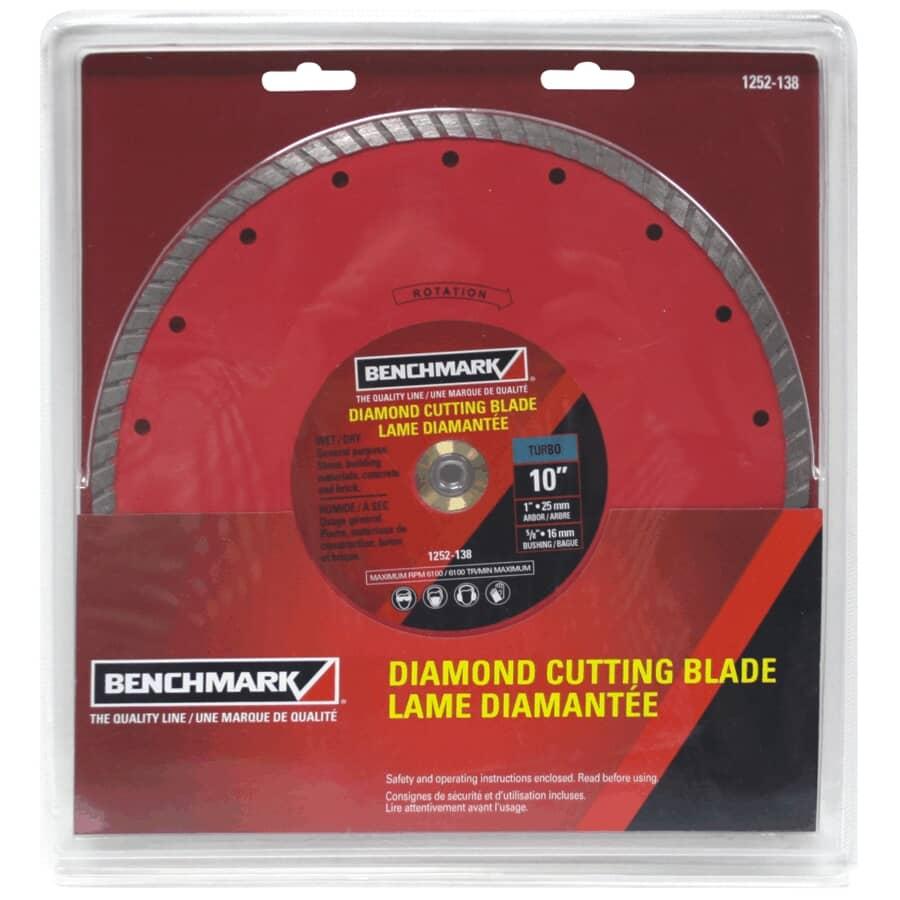 "BENCHMARK:10"" Turbo Continuous Wet/Dry Diamond Blade"