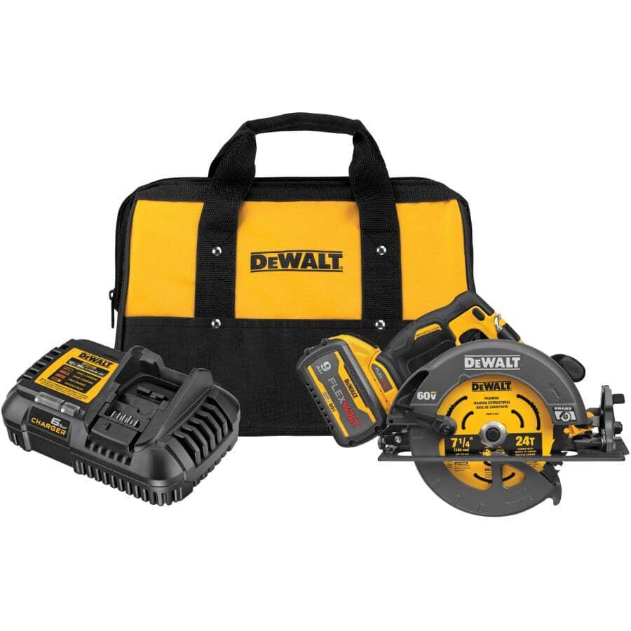 "DEWALT:Flexvolt 60V Max Brushless 7-1/4"" Cordless Circular Saw - with Brake Kit"