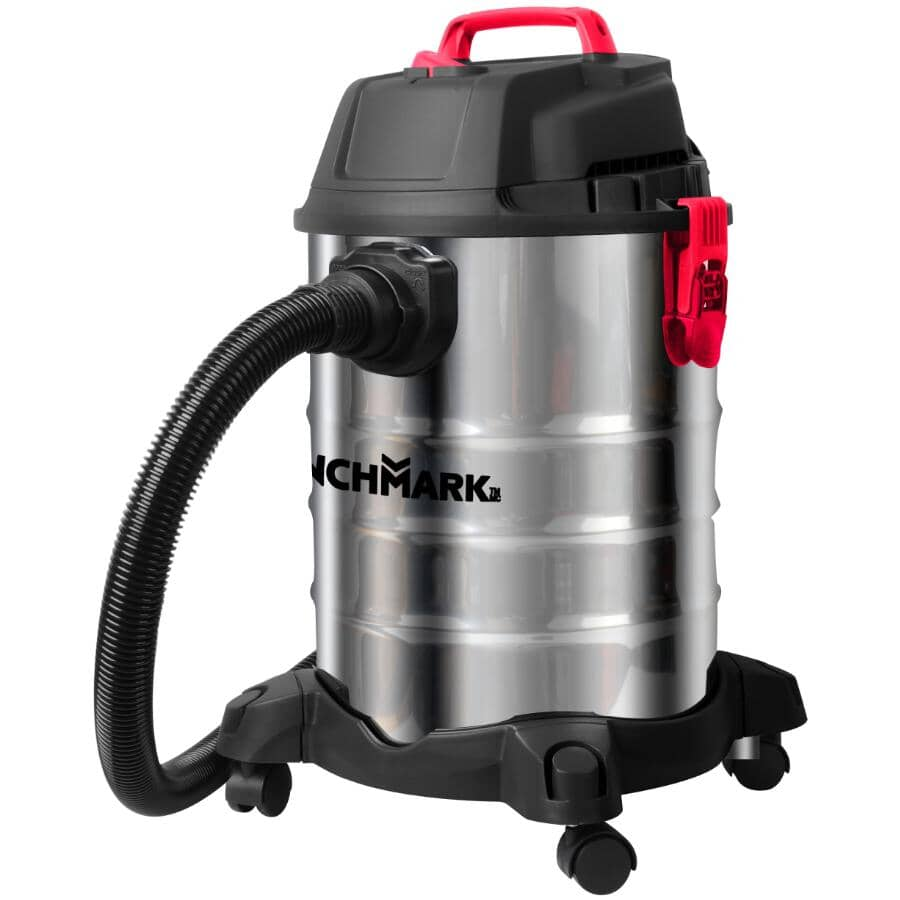 BENCHMARK:30 L Wet Dry Vacuum - Stainless Steel