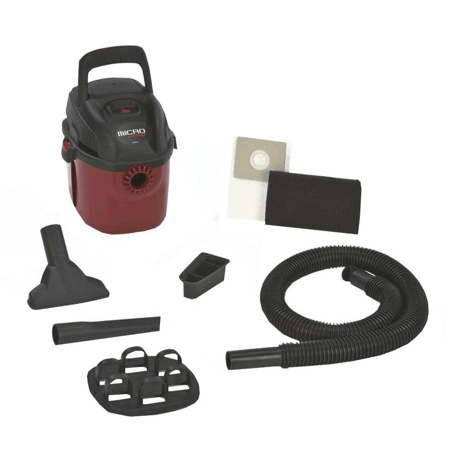 SHOP-VAC:1 US Gal Micro Wet/Dry Vacuum