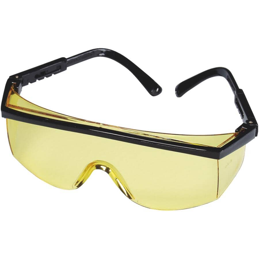 WORKHORSE:Dual Lens Safety Glasses - Amber