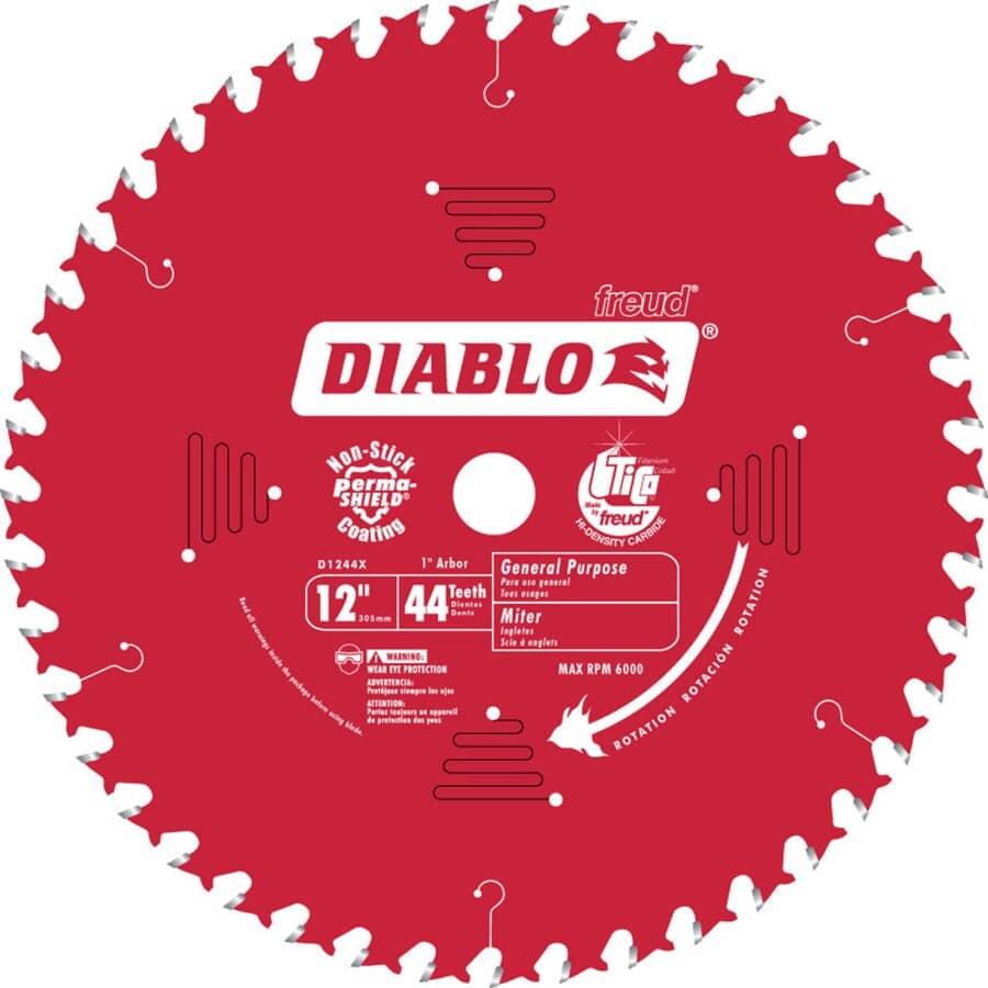 """DIABLO:12"""" 44 Tooth Carbide Circular Saw Blade"""