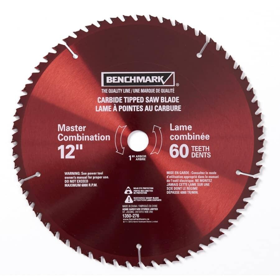"""BENCHMARK:12"""" 60 Tooth Carbide Circular Saw Blade"""