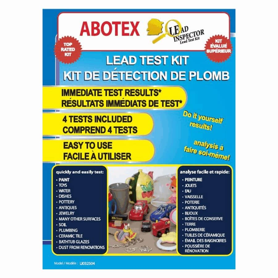 ABOTEX LEAD INSPECTOR:Lead Test Kit - 4 Pieces