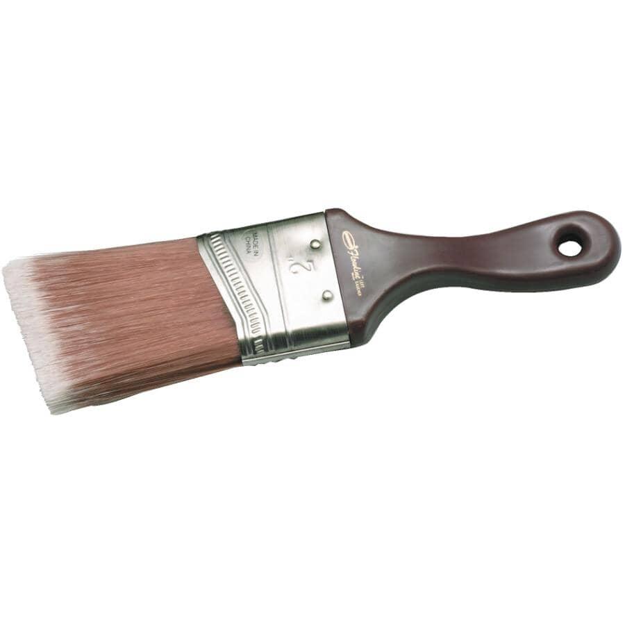 """DYNAMIC:Left Hand Stubby Polyester Angular Paint Brush - 2""""/50 mm"""
