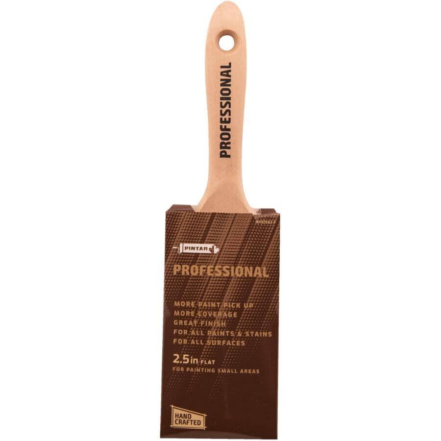 "PINTAR PROFESSIONAL:Polyester / Nylon Flat Paint Brush - 2.5""/63 mm"
