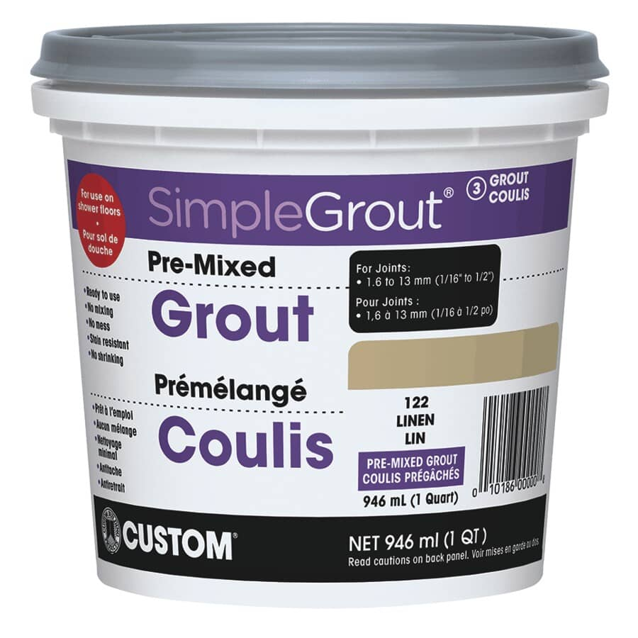 SIMPLEGROUT:#122 Linen Pre-Mixed Grout - 946 ml