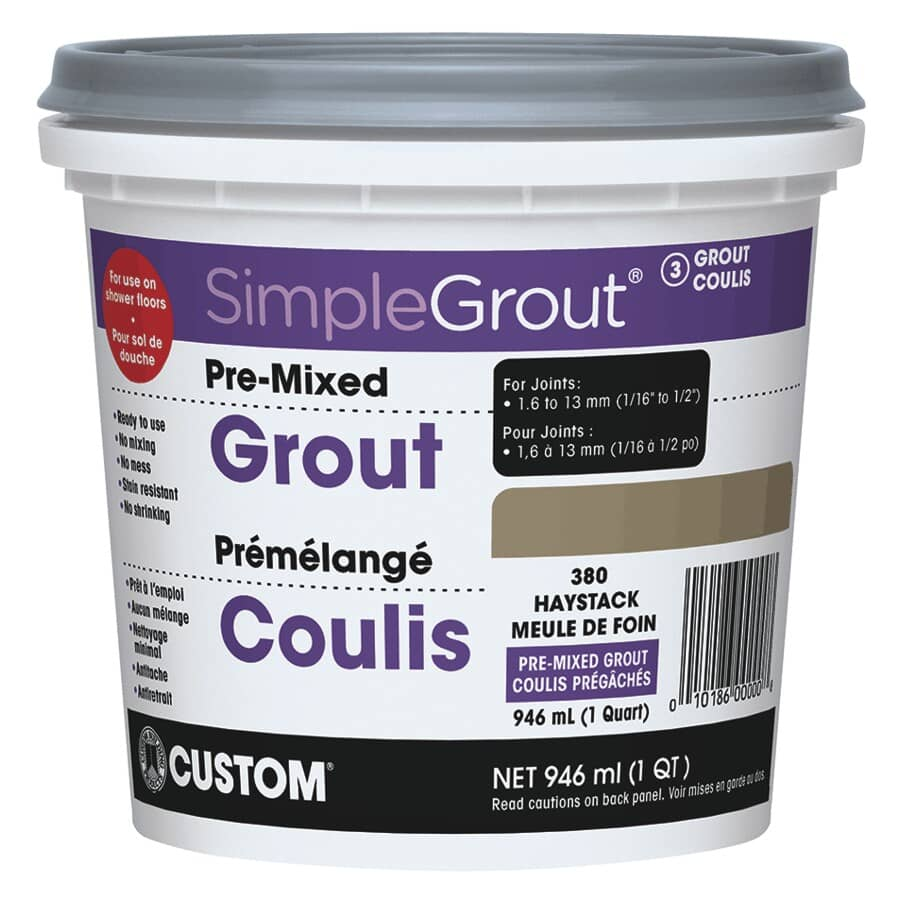 SIMPLEGROUT:#380 Haystack Pre-Mixed Grout - 946 ml