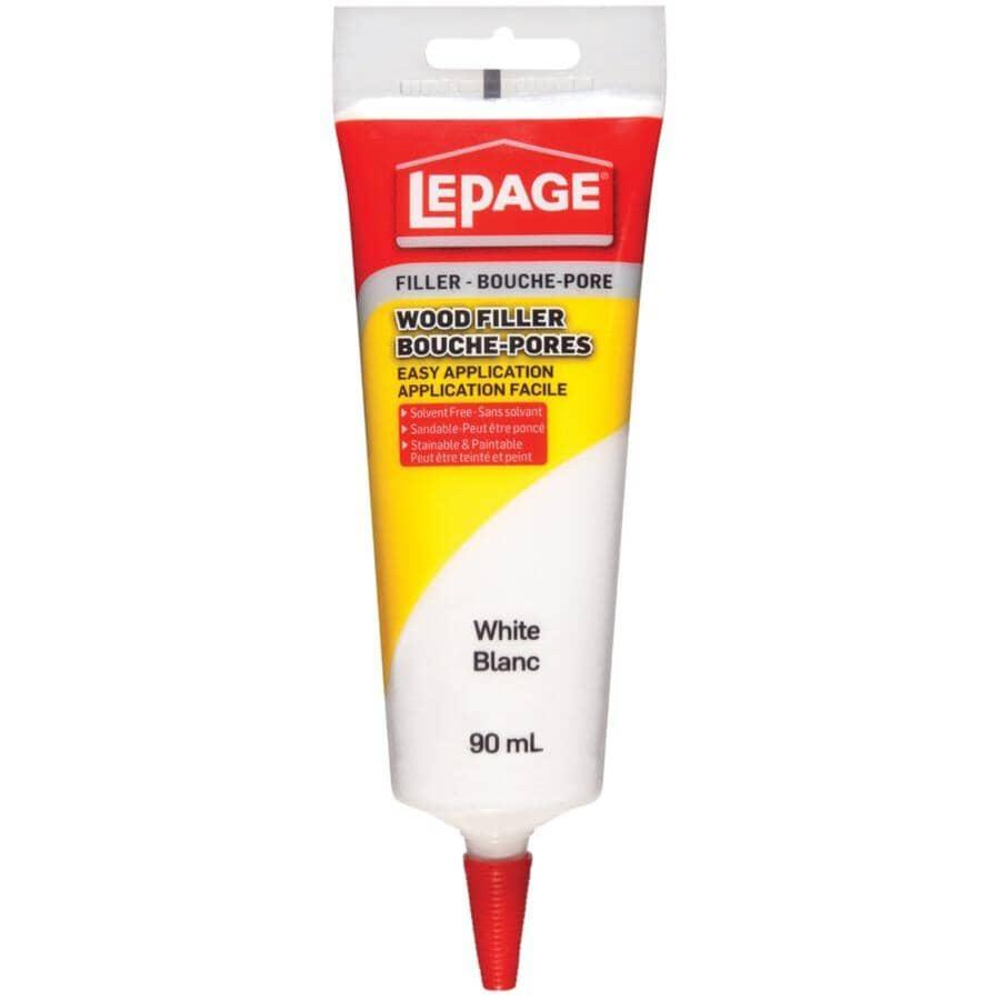 LEPAGE:Tinted Wood Filler - White, 90 ml