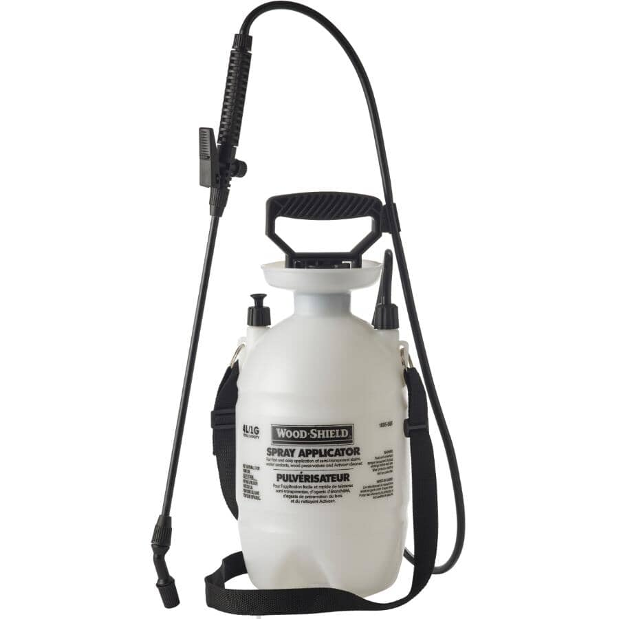 WOOD SHIELD:Plastic Sprayer Tank - 1 Gal