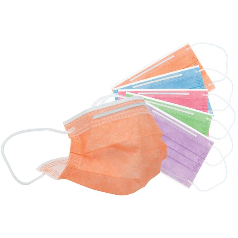 FUSION:Children's Disposable Face Masks - with Ear Loops, 50 Pack