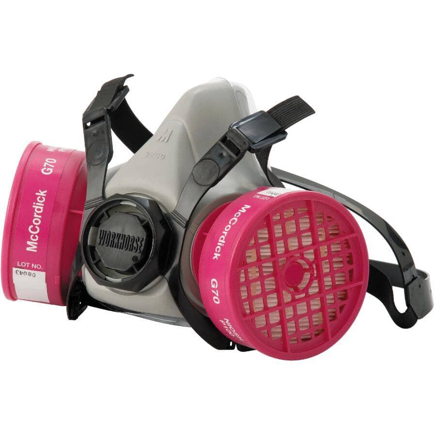 WORKHORSE:NIOSH P100 Dual Cartridge Half Mask Respirator - Asbestos & Lead