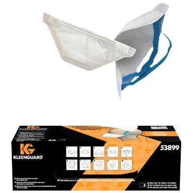 KLEENGUARD:NIOSH N95 Particulate Respirator Mask - 20 Pack