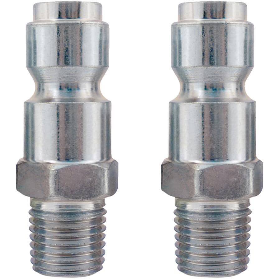 """TOPRING:2 Pack 3/8"""" Truflate x 1/4"""" Male National Pipe Thread Coupler Plugs"""