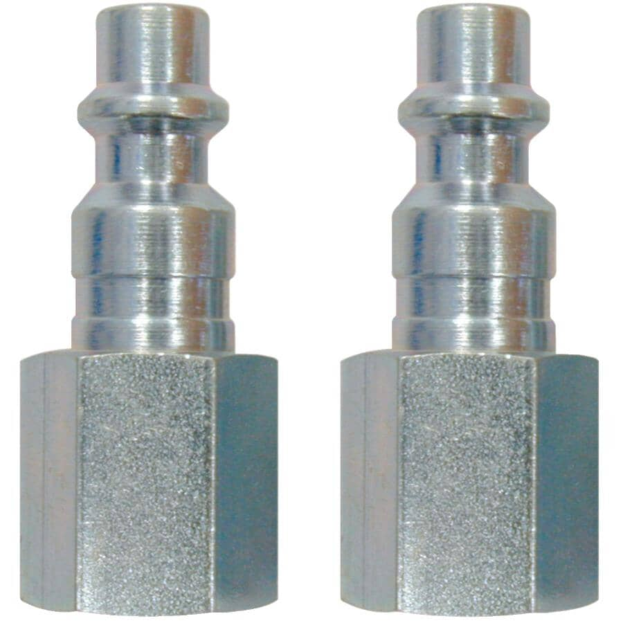 """TOPRING:2 Pack 1/4"""" Industrial x 1/4"""" Female National Pipe Thread Coupler Plugs"""
