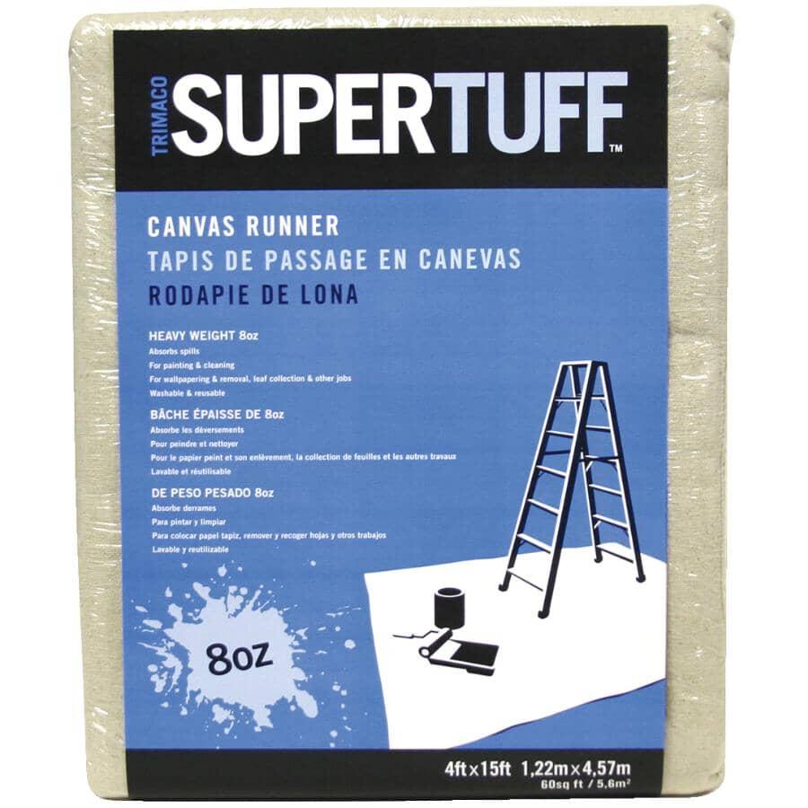 TRIMACO:Supertuff Canvas Drop Cloth Runner - 4' x 15'
