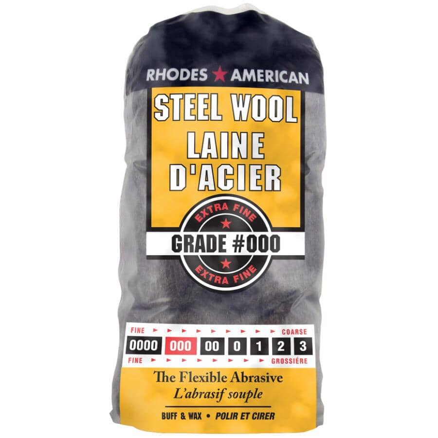 RHODES AMERICAN:Steel Wool Pads - Extra Fine #000, 12 Pack