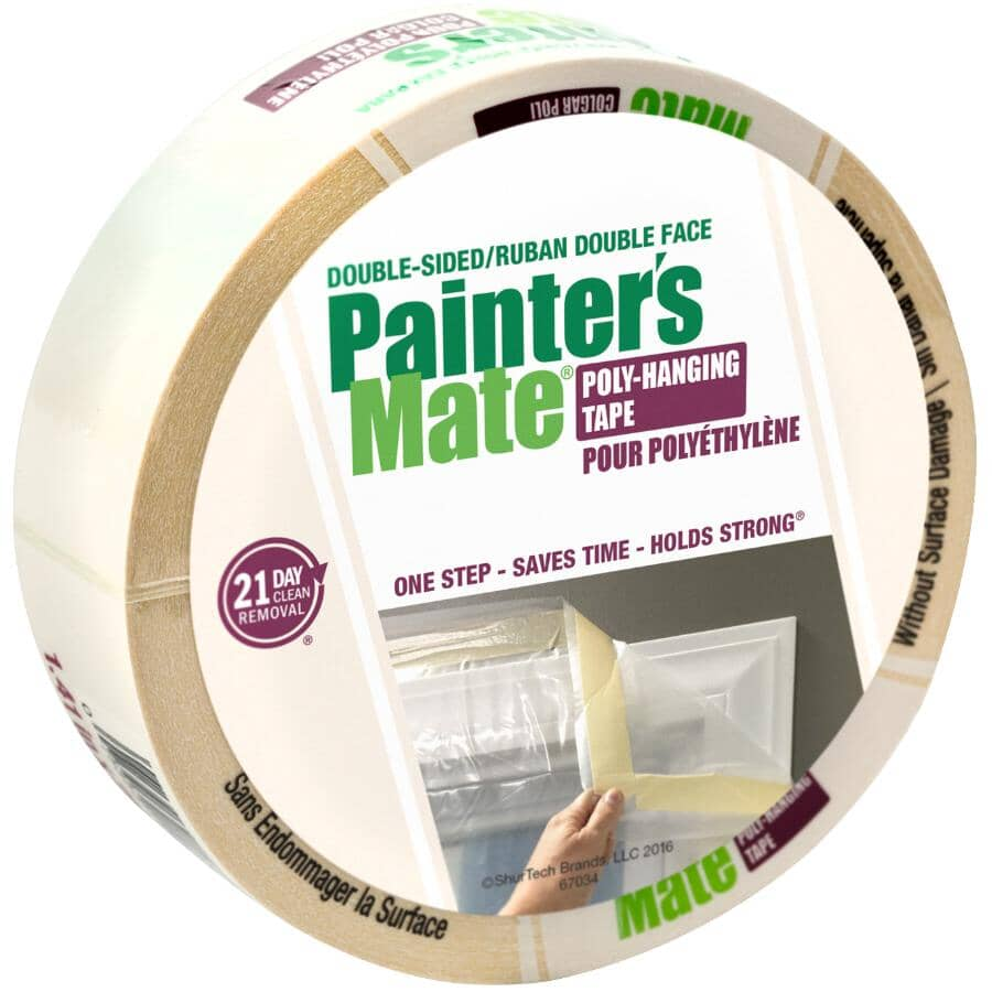 PAINTER'S MATE:Double Sided Poly-Hanging Tape - 36 mm x 22.8 M
