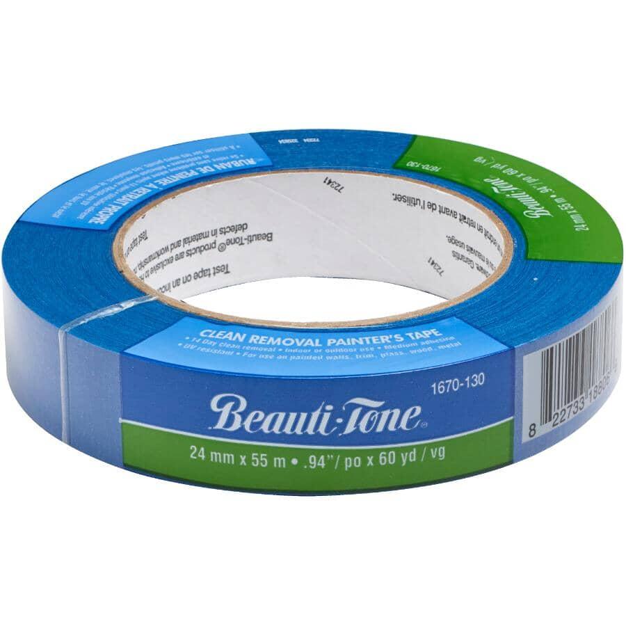 BEAUTI-TONE:Blue Painter's Masking Tape - 24 mm x 55 m