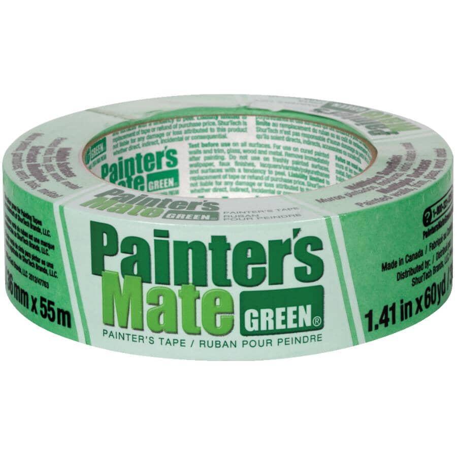 PAINTER'S MATE:Green Painter's Masking Tape - 36 mm x 55 m