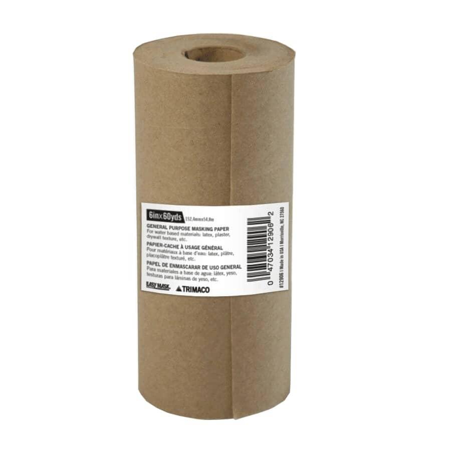 TRIMACO:Papier-cache tout usage brun de 6 po x 180 pi