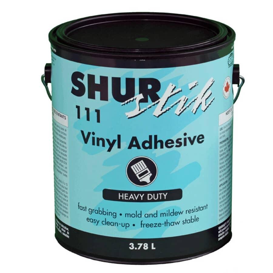 SHUR-STIK:Adhésif pour revêtement mural vinylisé, 3,78 L