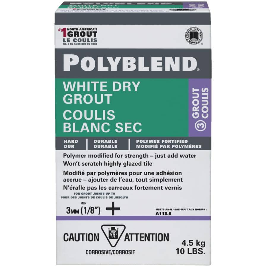 CUSTOM BUILDING PRODUCTS:10lb White Unsanded Dry Polyblend Wall Grout