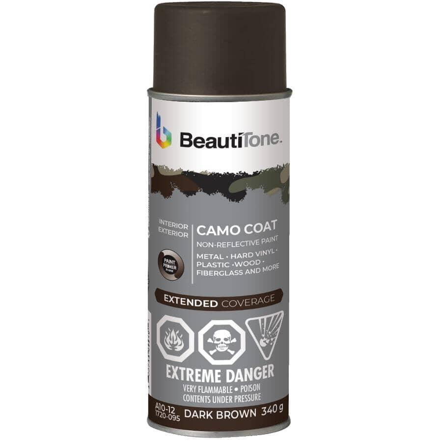 BEAUTI-TONE:Camo Coat Non-Reflective Spray Paint - Dark Brown Camouflage, 340 g