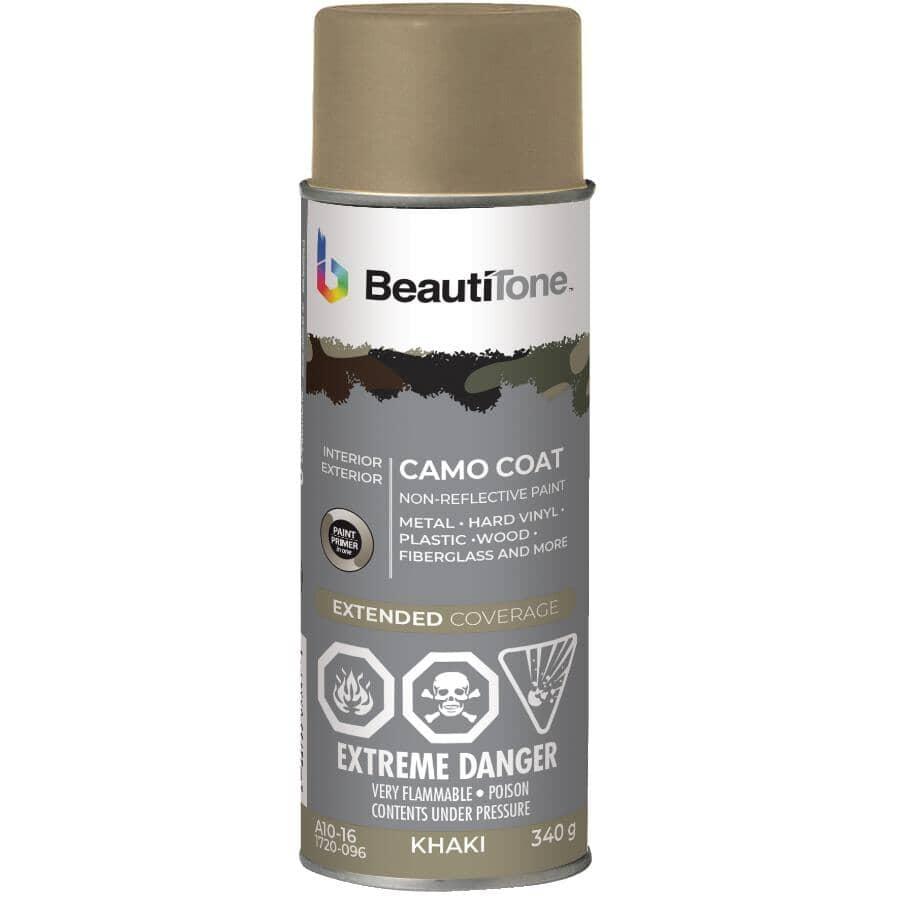 BEAUTI-TONE:Camo Coat Non-Reflective Spray Paint - Khaki Beige Camouflage, 340 g