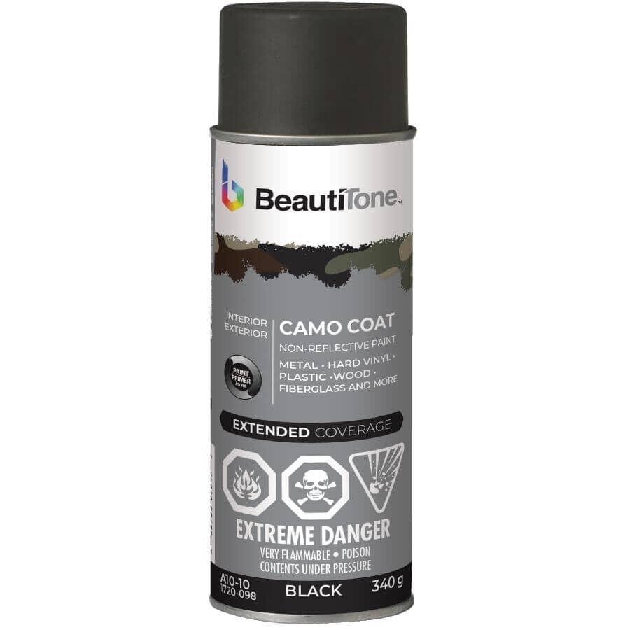 BEAUTI-TONE:Camo Coat Non-Reflective Spray Paint - Black Camouflage, 340 g