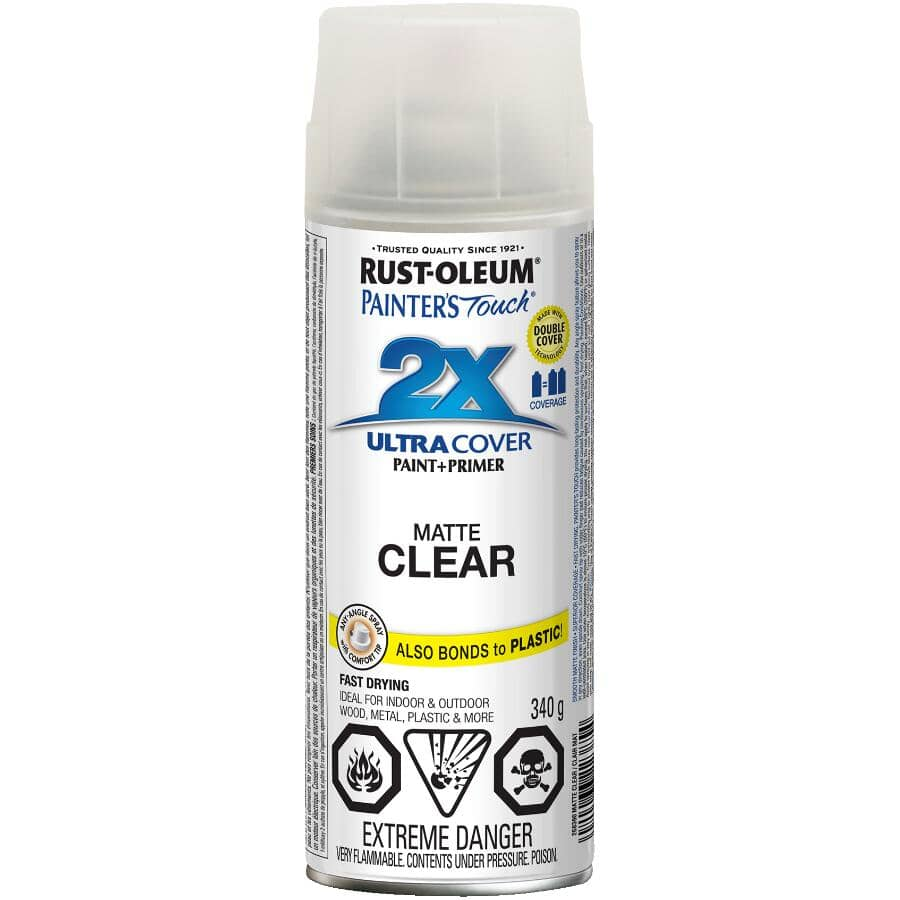 RUST-OLEUM:Painter's Touch 2X Ultra Cover Spray Paint - Matte Clear, 340 g