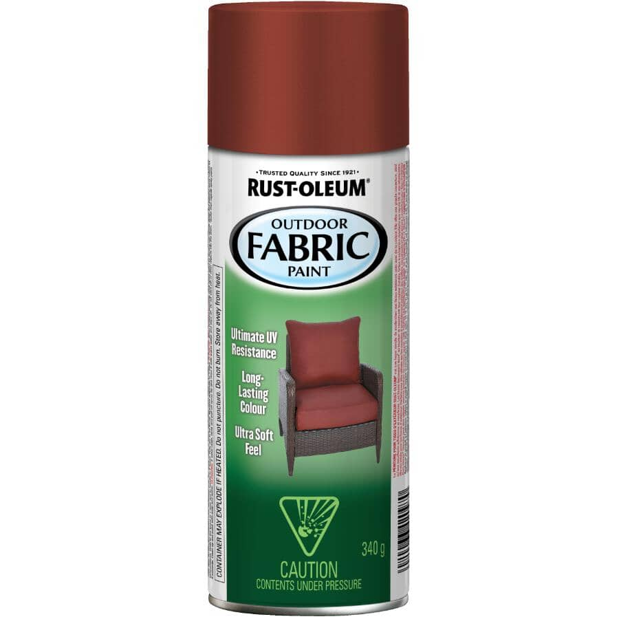 RUST-OLEUM:Outdoor Fabric Spray Paint - Dark Red, 340 g