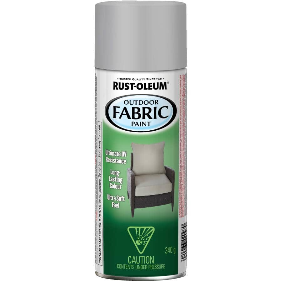 RUST-OLEUM:Outdoor Fabric Spray Paint - Medium Grey, 340 g
