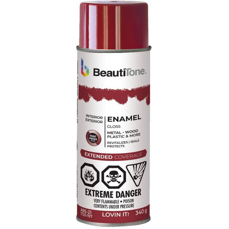 BEAUTI-TONE:Enamel Interior / Exterior Spray Paint - Gloss Loving It Red, 340 g