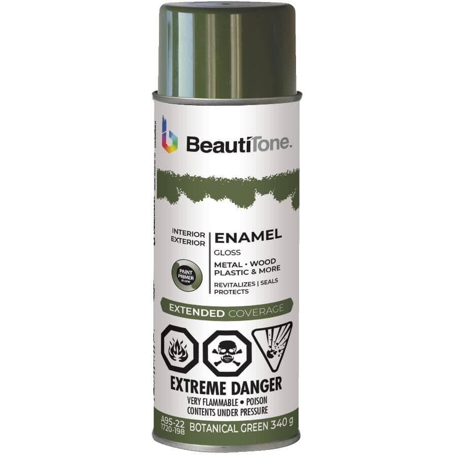 BEAUTI-TONE:Enamel Interior / Exterior Spray Paint - Gloss Botanical Green, 340 g