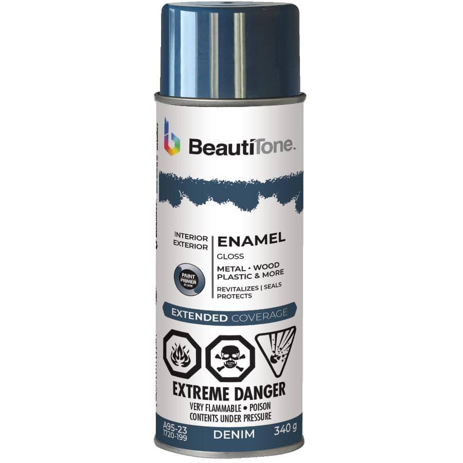 BEAUTI-TONE:Enamel Interior / Exterior Spray Paint - Gloss Demin, 340 g
