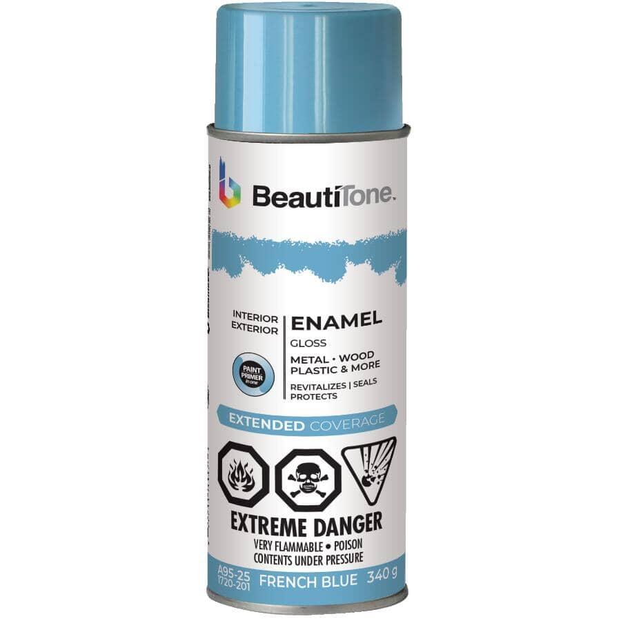 BEAUTI-TONE:Enamel Interior / Exterior Spray Paint - Gloss French Blue, 340 g