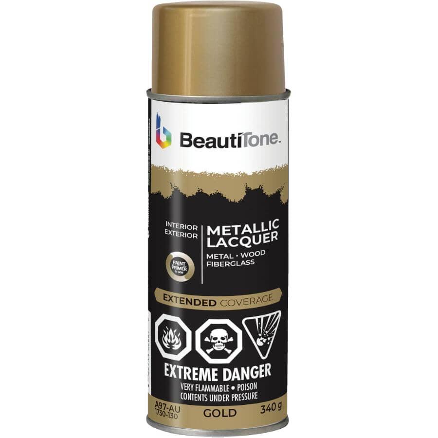 BEAUTI-TONE:Metallic Lacquer Spray Paint - Gloss Gold, 340 g