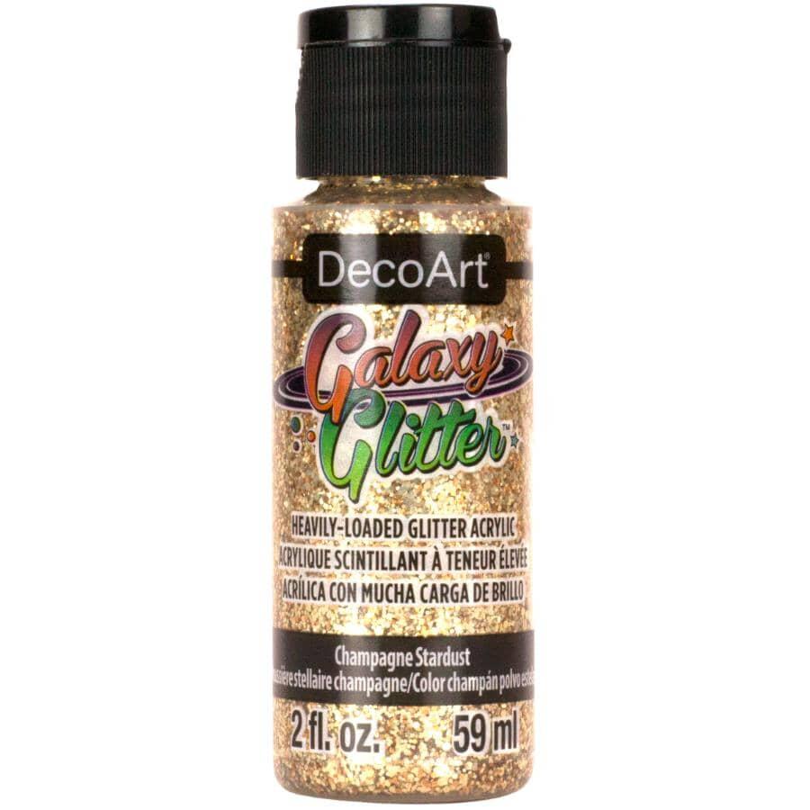DECOART:Galaxy Glitter Heavily-Loaded Glitter Craft Paint - Champagne Stardust, 2 oz