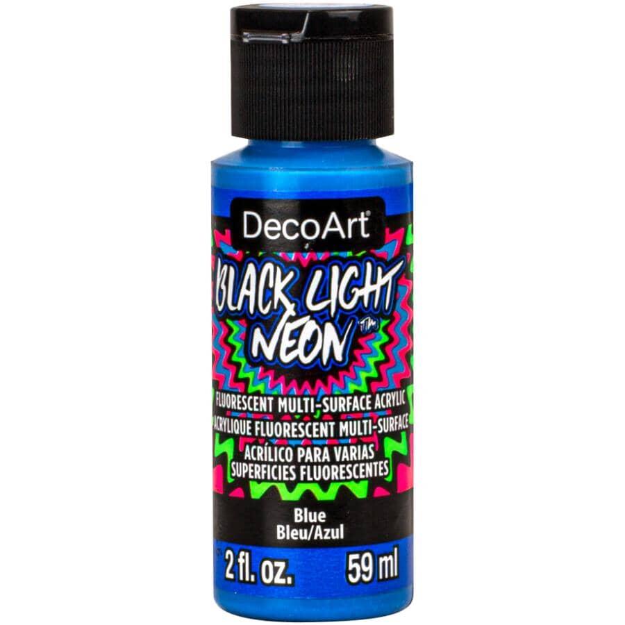 DECOART:Black Light Neon Craft Paint - Blue, 2 oz