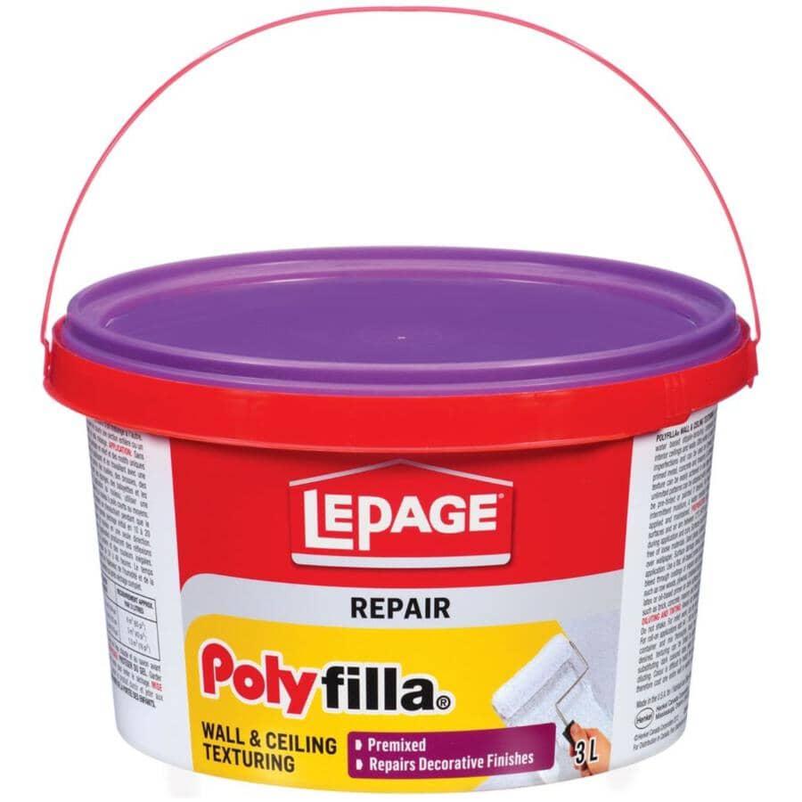 POLYFILLA:Interior Wall & Ceiling Texturing Repair - White, 2.7 L