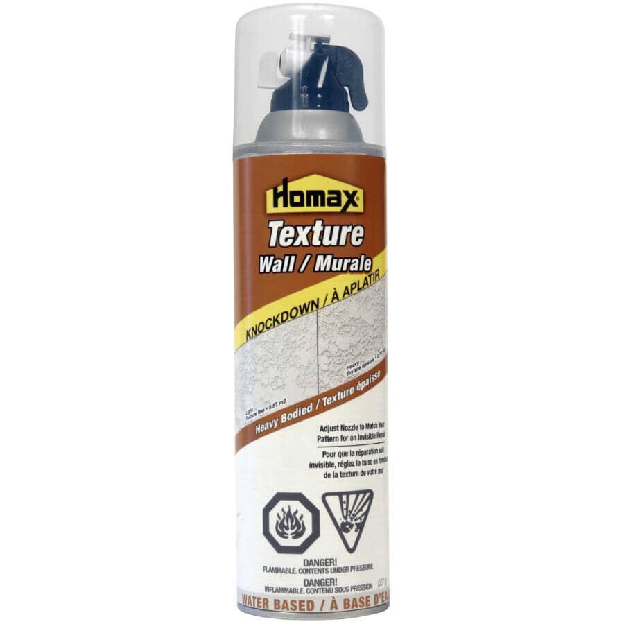 HOMAX:Knockdown Texture Wall & Ceiling Repair Spray - White, 20 oz