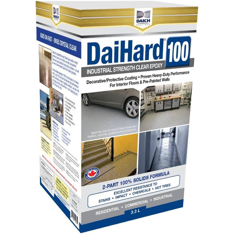 DAICH COATINGS:DaiHard Industrial Strength Epoxy - Clear, 3.3 L