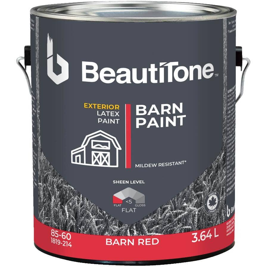 WEATHER SHIELD:Exterior Latex Barn Paint - Barn Red, 3.64 L