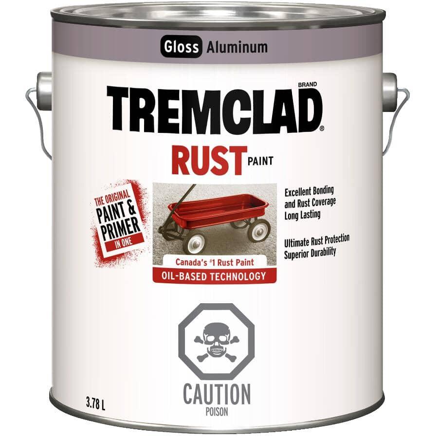 TREMCLAD:Rust Paint - Gloss Aluminum, 3.78 L