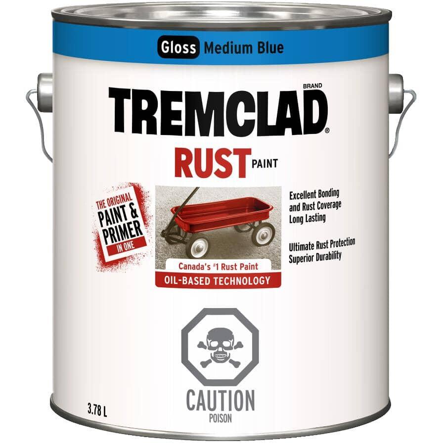 TREMCLAD:Rust Paint - Gloss Medium Blue, 3.78 L