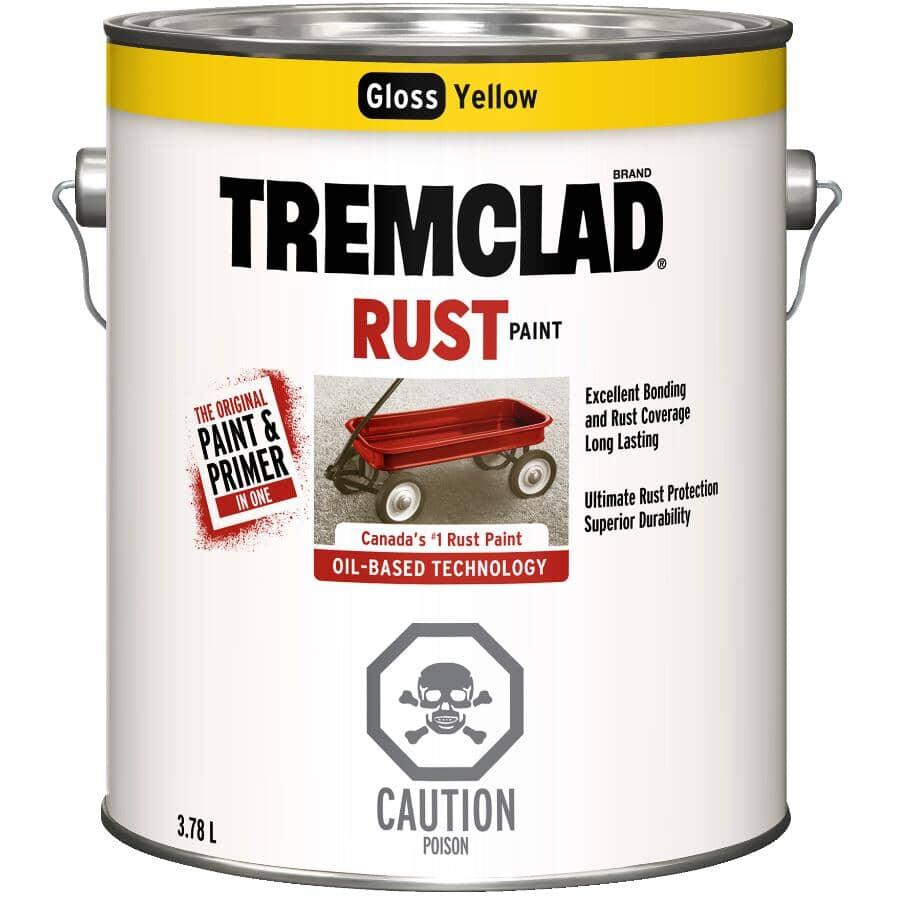 TREMCLAD:Rust Paint - Gloss Yellow, 3.78 L